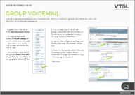Group Voicemail Quick Reference IMAGE
