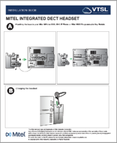 Mitel Integrated DECT Headset Installation Guide IMAGE