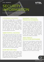 VTSL Security Information IMAGE